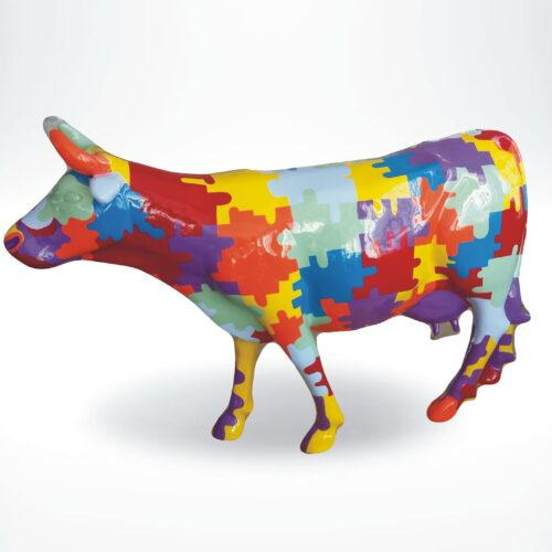 figura krowa gładka puzzle