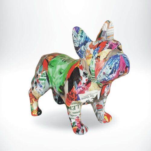 figurka buldoga pop art