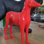 Fiberglass Greyhound decoration figure red