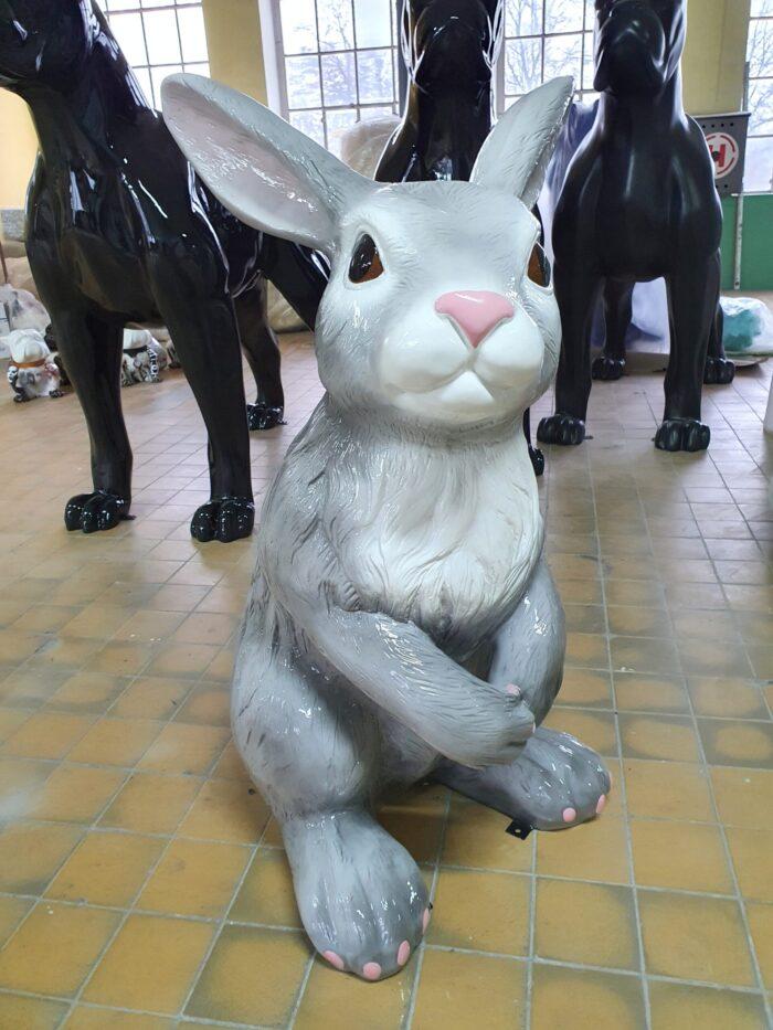 large fiberglass rabbit
