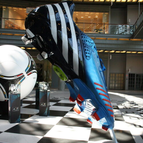 Large scale Fiberglass Adidas 3D advertising shoe