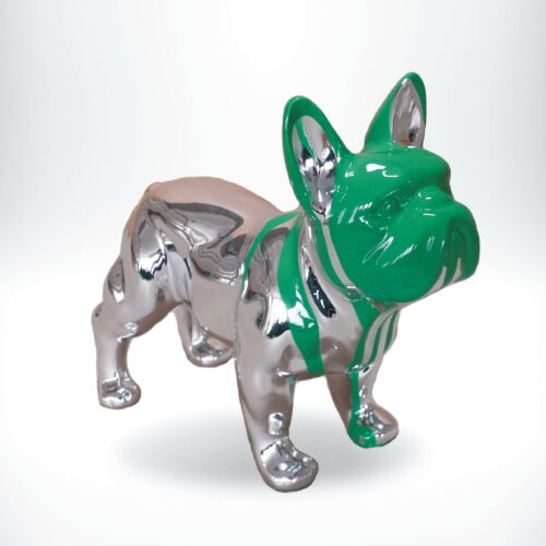 metalizowana figurka buldoga