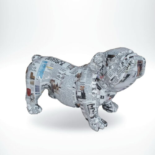 GC197 bulldog pop-art newspaper