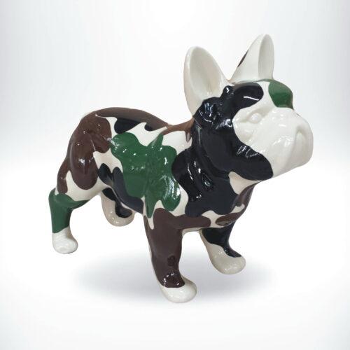 metalizowana figurka buldoga moro