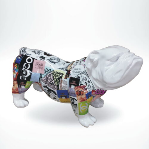 GC197 pop art bulldog full