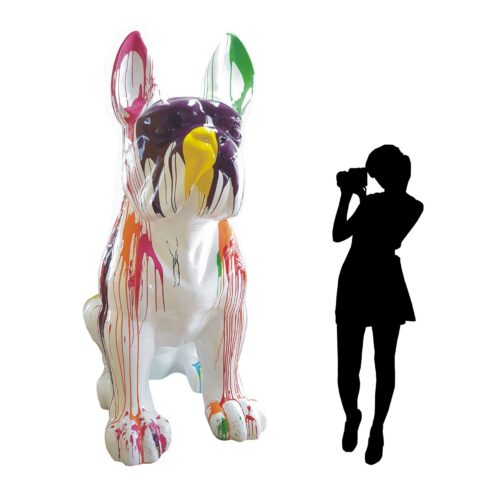 gigantyczny kolorowy pies