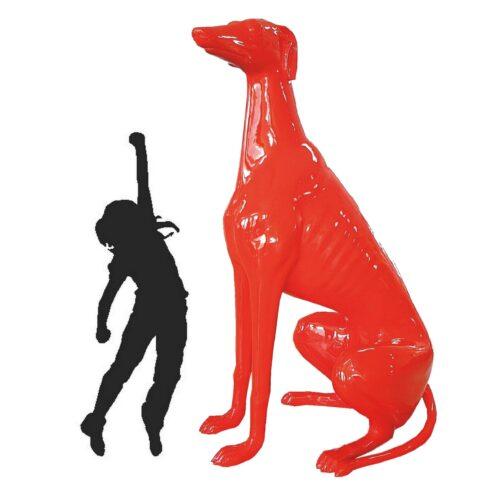 duży siedzący greyhound