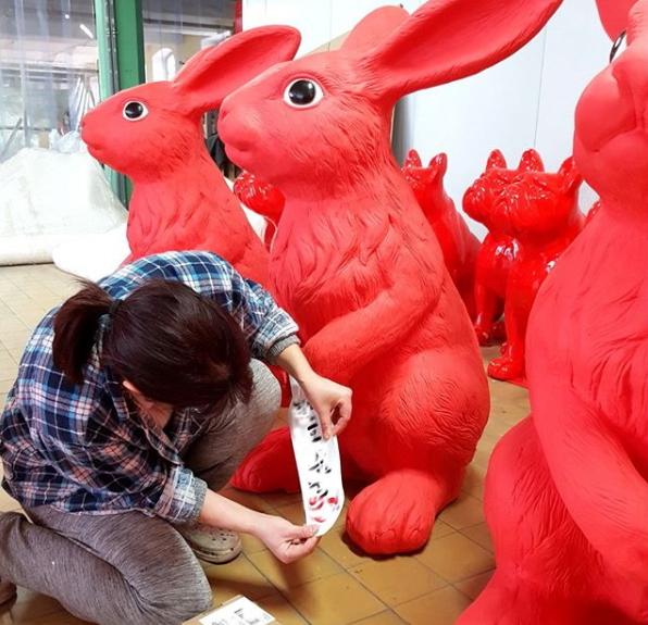królik czerwony duży