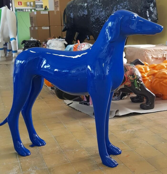 Fiberglass Greyhound decoration figure blue