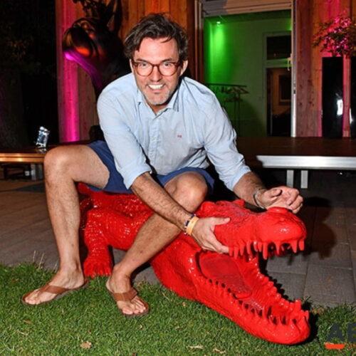Krokodyl duża figura kompozyt