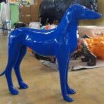 figura greyhound niebieski