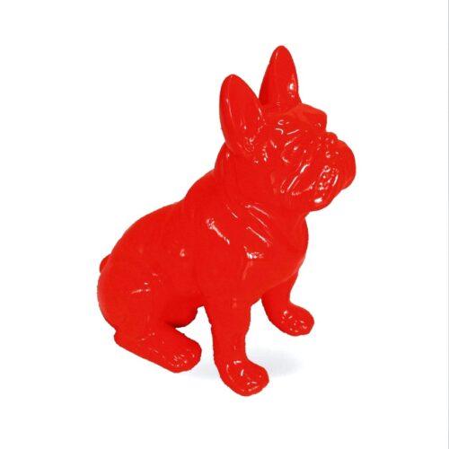 mały bulldog siedzący C200s kolor czerwony