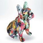 mały francuski buldog siedzący pop art wrapping