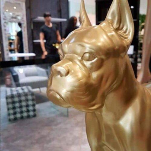 figura pies bokser złoty