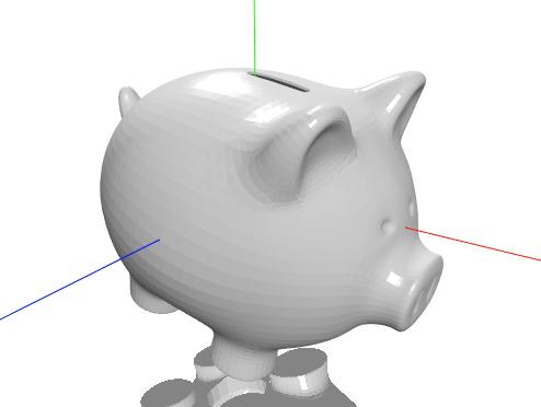 świnka skarbonka model 3D