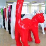 duży kot czerwony na magazynie
