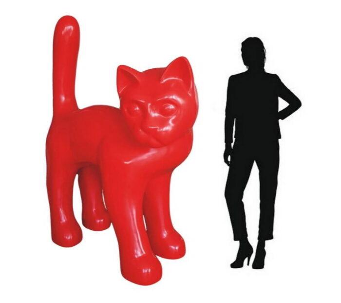 jednokolorowy kot duży