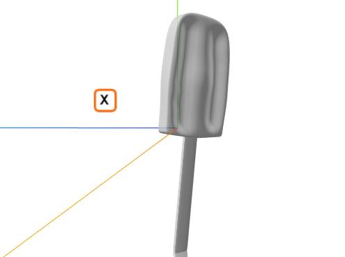 lód na patyku model 3D