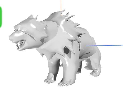 niedźwiedź polarny model 3D
