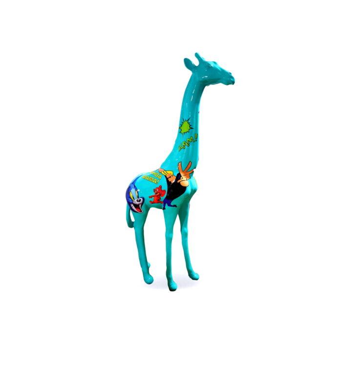 figura żyrafa pop-art GF062
