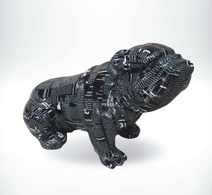 Figura dekoracyjna Buldog siedzący - pop-art - C197s