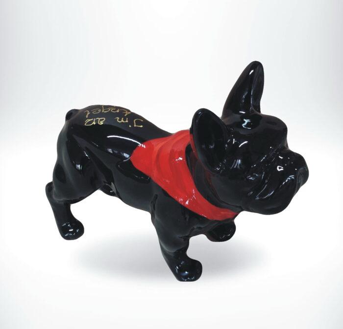 mały bulldog pop art bandana