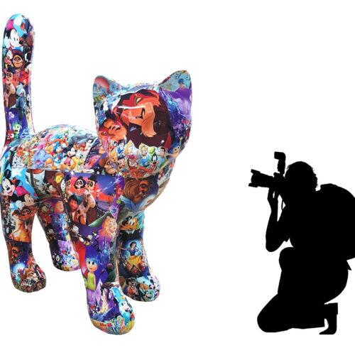 duży kot pop art