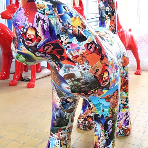 duża figura kot pop art - magazyn