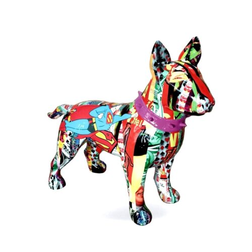 Bullterrier wersja pop-art