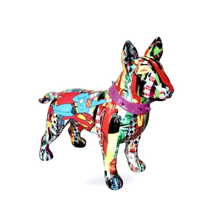 Bullterrier wersja pop-art