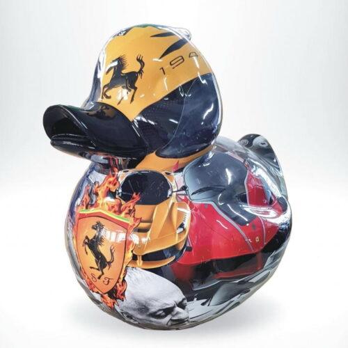 figura kaczka pop-art porsche