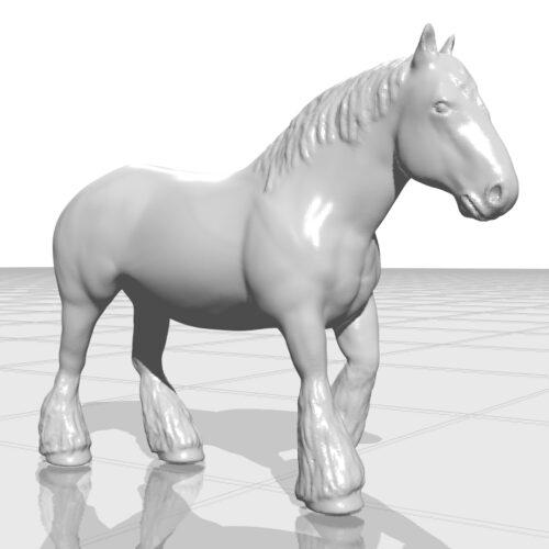 belgian draft horse 3d model