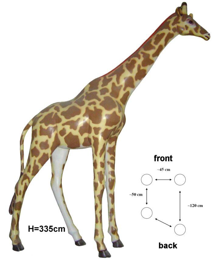 figura żyrafa naturalnej wielkości