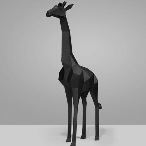 giraffe black mat statue (1)